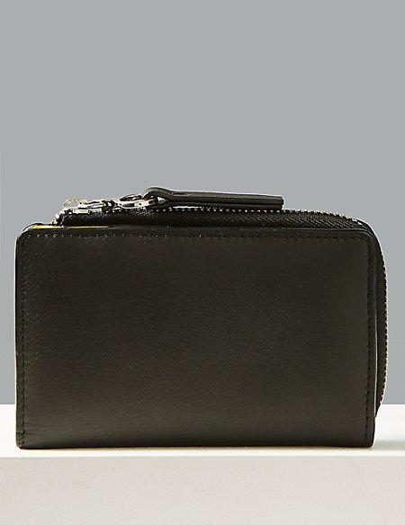 Leather Fold Over Purse