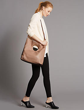 Leather Dolly Shopper Bag