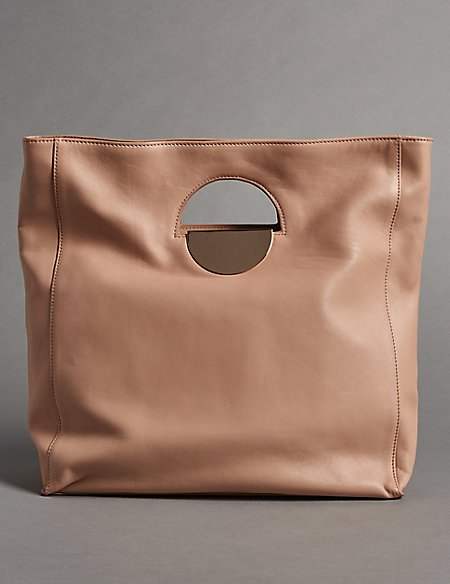 Leather Dolly Shopper Bag
