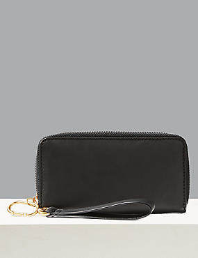 Leather Zip Around Purse