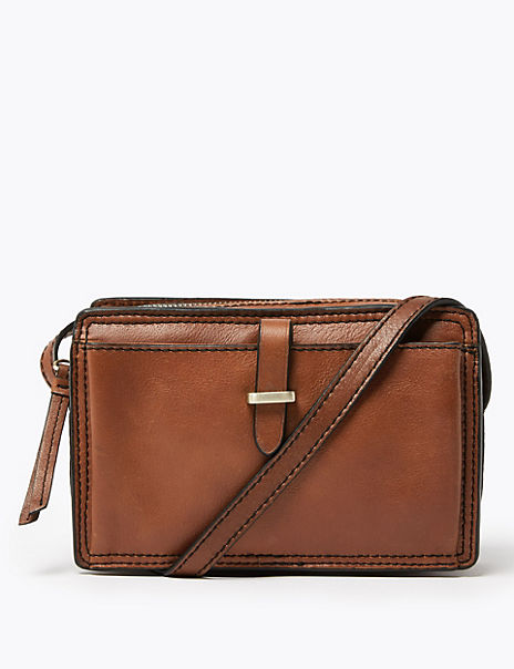 Leather Crossbody Camera Bag