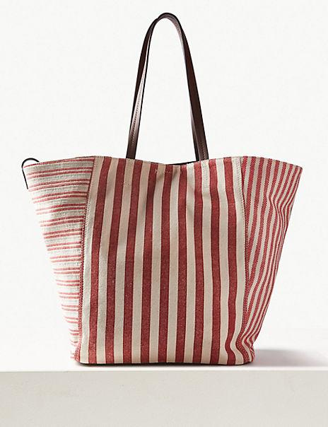 Pure Cotton Striped Tote Bag