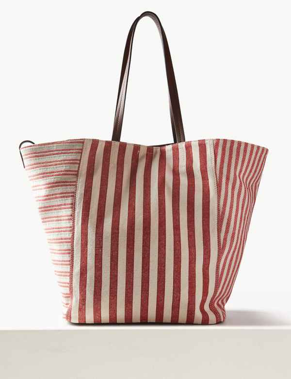 Pure Cotton Striped Tote Bag 0871b5d33