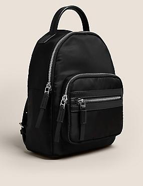 Wasserabweisender Mini-Rucksack mit Rundum-Reißverschluss