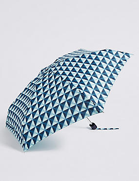 Spotted Compact Umbrella with Stormwear™