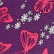 Butterfly Print Compact Umbrella, PURPLE MIX, swatch