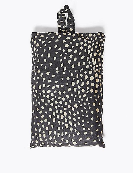 Spot Print Packable Shopper