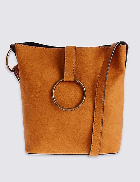 Ring Detailed Across Body Bag