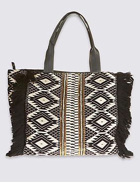 Hand Embellished Slouch Bag