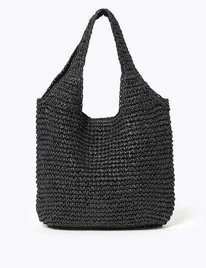Straw Hobo Bag Accessories Marks
