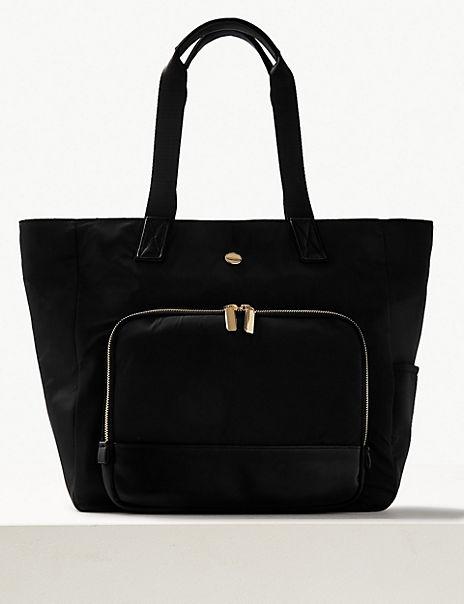 Zipped Detail Shopper Bag
