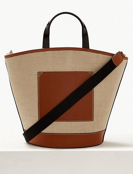 Colour Block Shopper Bag
