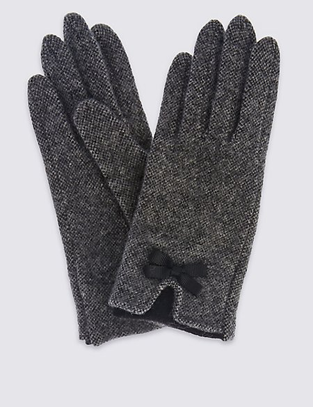 Wool Rich Bow Gloves