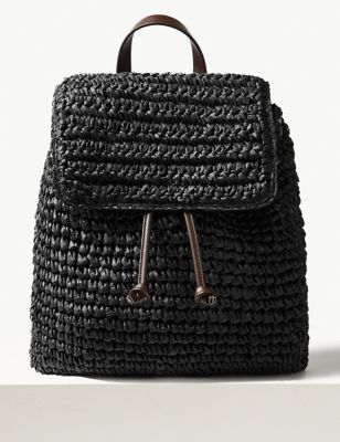 0686f4e1775cb Straw Backpack Bag £25.00