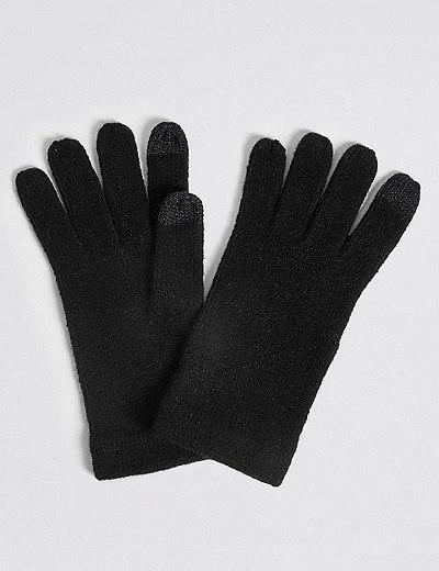 Pletené rukavice na dotykové displeje  a57d4b7418