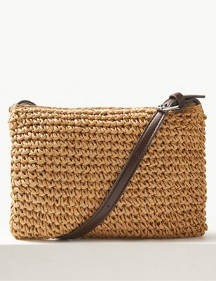 M&S straw bag