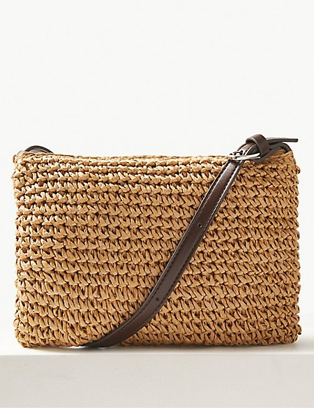 Straw Cross Body Bag