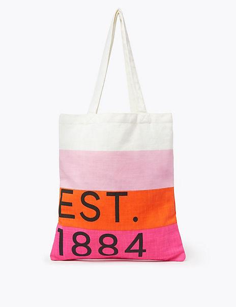 Pure Cotton Canvas Shopper Bag