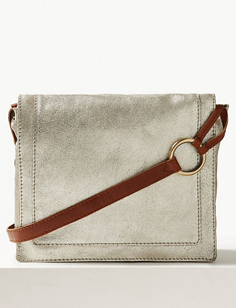Suede Cross Body Bag