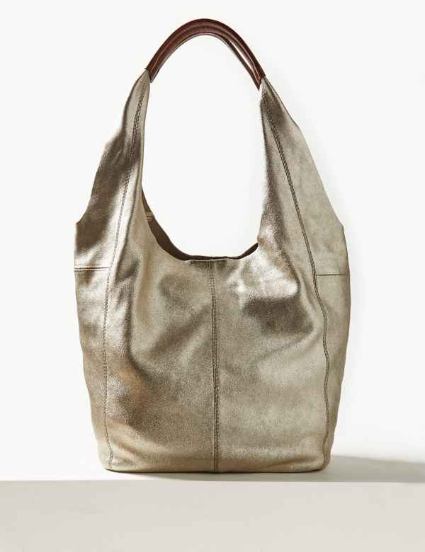 ef530ea38d Suede Hobo Bag. M&S Collection