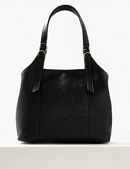 Leather 3 Compartment Hobo Bag  60728e6ffdad2