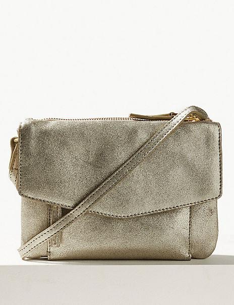Suede Cross Body Bag