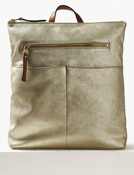 Suede Backpack Bag
