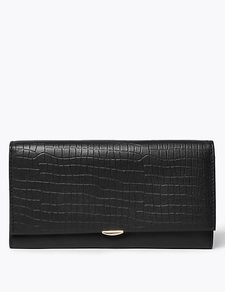 Leather Croc Effect Cardsafe™ Purse