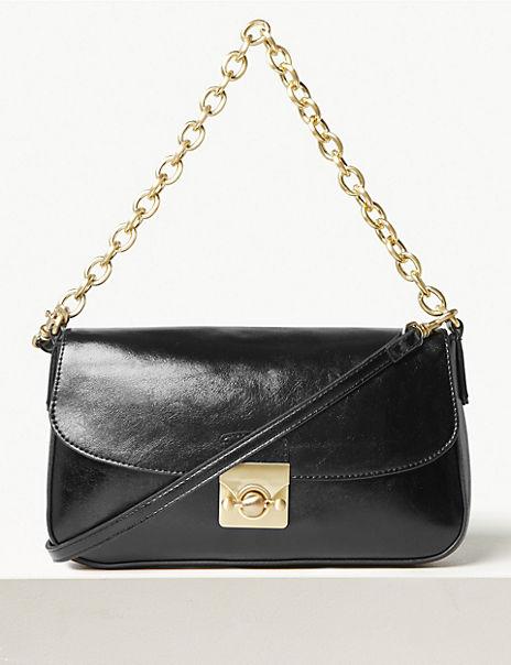 Chain Strap Baguette Bag
