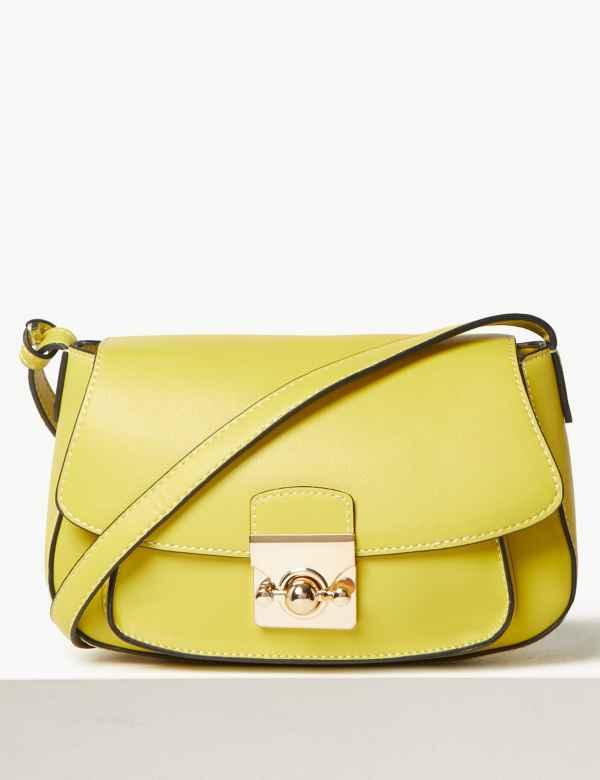 671571d1edca Faux Leather Saddle Bag