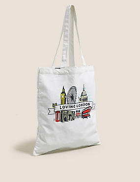 Canvas London Tote Bag
