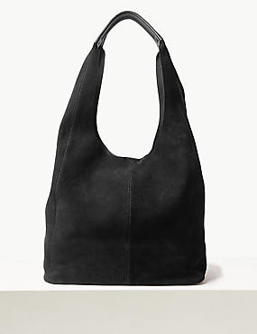 Leather Blend Hobo Bag