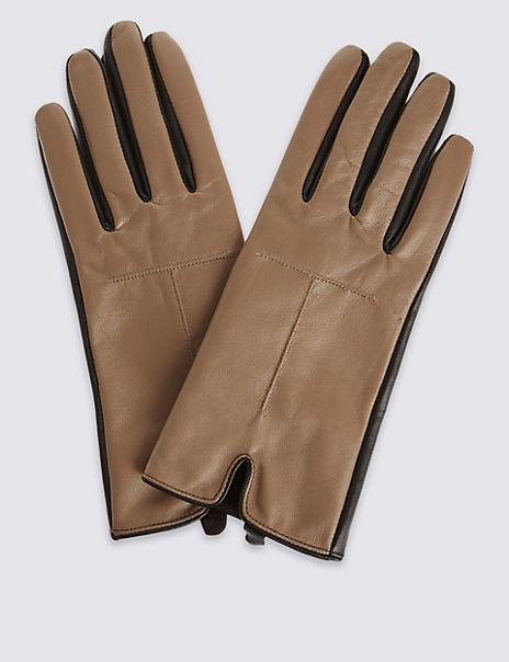 1be423869 Product images. Skip Carousel. Contrast Colour Leather Gloves