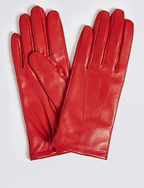 Leather Stitch Detail Gloves