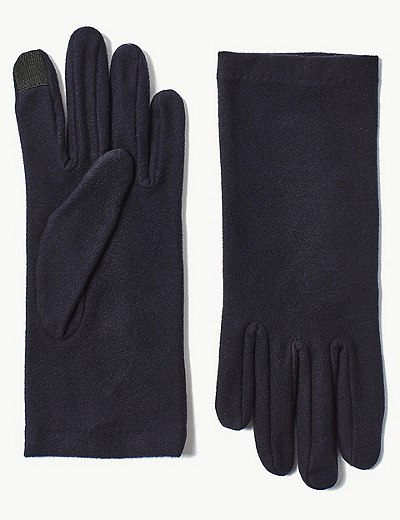 Flísové rukavice na dotykový displej  ecd3ce8cd0