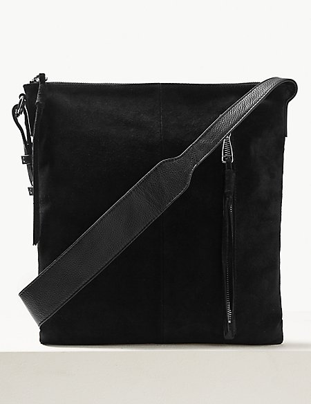 Suede Tassel Messenger Bag