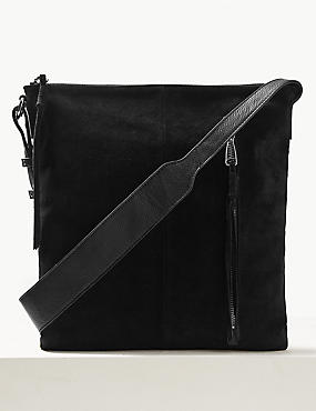 Suede Tassel Messenger Bag
