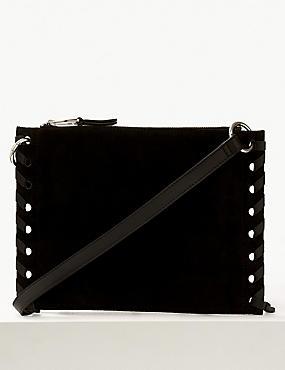 Suede Tassel Cross Body Bag