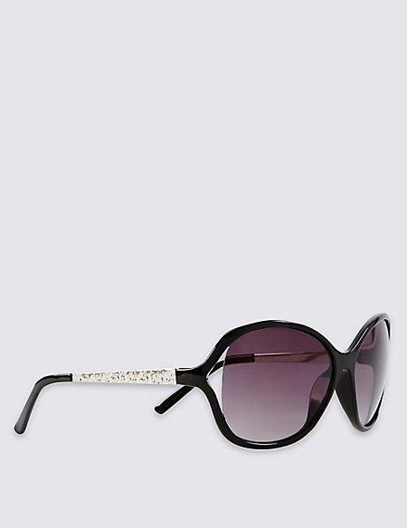 Oversized Cut-Out Sunglasses