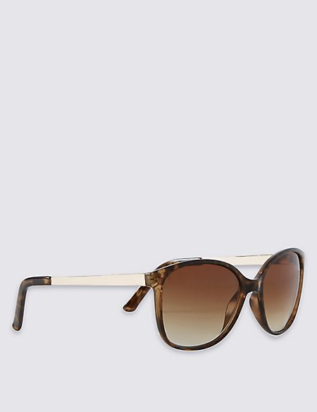 Retro Metal Arm Rectangle Sunglasses