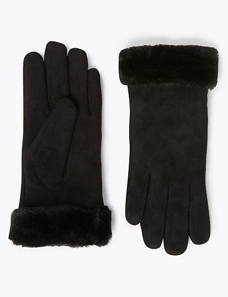 Faux Sheepskin Gloves