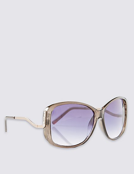 Step Arms Oversized Sunglasses