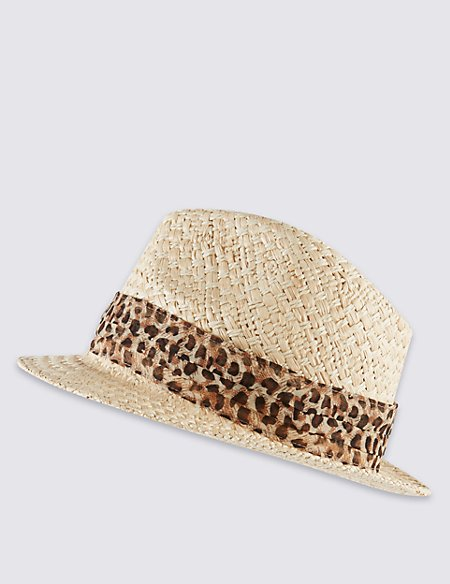 Product images. Skip Carousel. Animal Print Scarf Trilby Hat 59f13e849ad