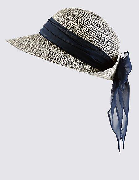 Scarf Trim Marl Hat