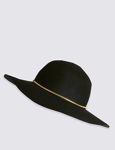 Pure Wool Chain Floppy Hat