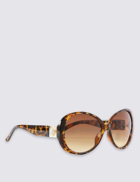 Faux Snakeskin Pearl Oversized Sunglasses