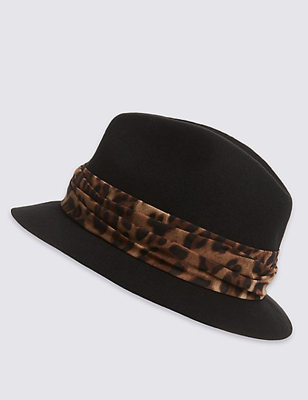 Pure Wool Trilby Hat