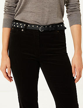 Faux Leather Jeans Waist Belt