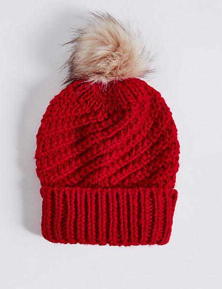 Fur Bobble Winter Hat