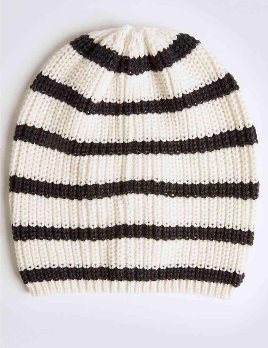 Striped Beanie Hat  80ed86c5499